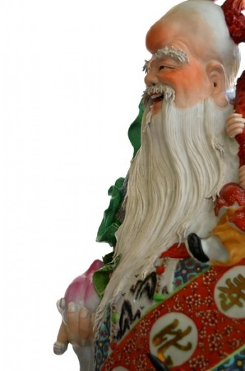 An ornate Chinese statue