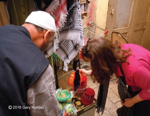 Sara Haggling Over a Fez