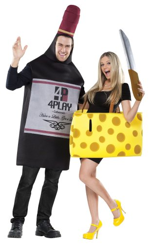 Wine and cheese Halloween costume for couples