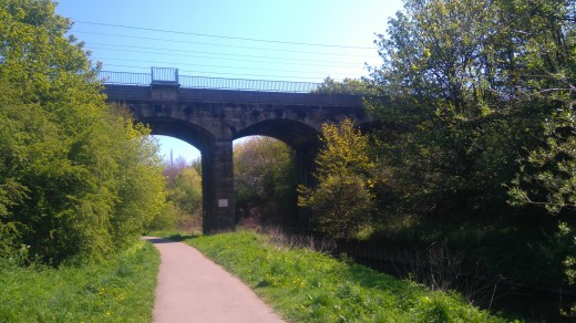 The Five Arches main line viaduct.
