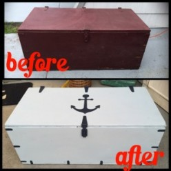 How to Flip a Thrift Store Chest with Chalk Paint