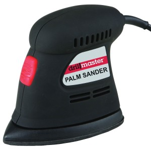 I used a small palm sander. I got this one from Harbor Freight.