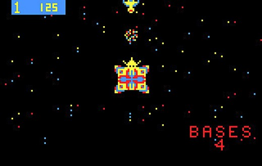 Space Fortress is nearly impossible to beat and the player shoots his missiles from a space ship. You have to aim and shoot at several aliens at once.