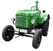 A nice-looking antique tractor