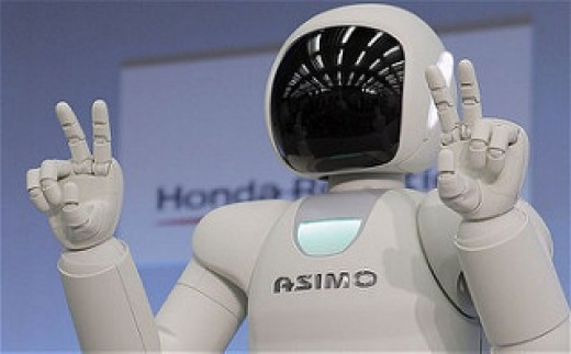 ASIMO can do stuff such as: kick a ball, go up and down stairs as well as pour a drink and serve a human as well as thank them or answer any questions you may have.