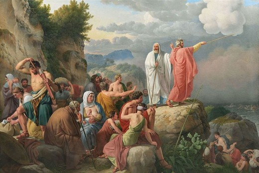 """ The Israelites Resting after the Crossing of the Red Sea"" by Christoffer Wilhelm Eckersberg"