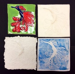 Plaster, Paper, Clay, Print: A 4-Part Art Lesson