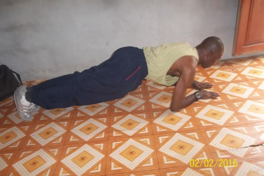 Isometrics low plank builds the core