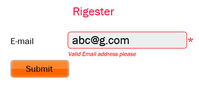 Validation for E-mail address