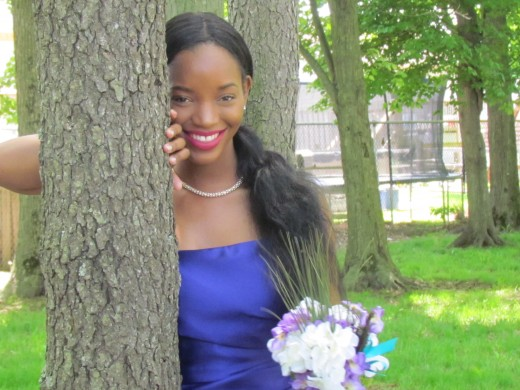 The lovely LaShae, the daughter of the bride poses for this stunning photo.