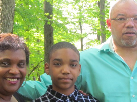 Cousin Zenda, with her husband Darryl and their son Darius came in from Chicago for the wedding.