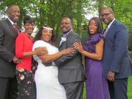 Recent brides and grooms from 2015 which is Mo and Wanisha on the far right, Chante and Stephen, 2016 and our future 2017 couple on the far left Winston and Cheryl.