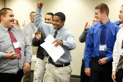 Men Receiving Job Training.