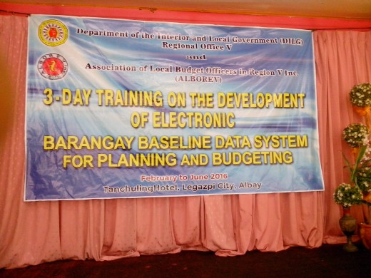 Banner for the seminar (Photo Source: Ireno Alcala, May 23, 2016)