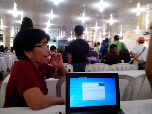 Secretary using the software, Photo Source Ireno Acala