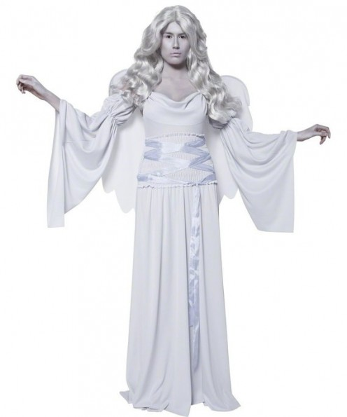 This costume includes the wings to complete your ghost angel look.