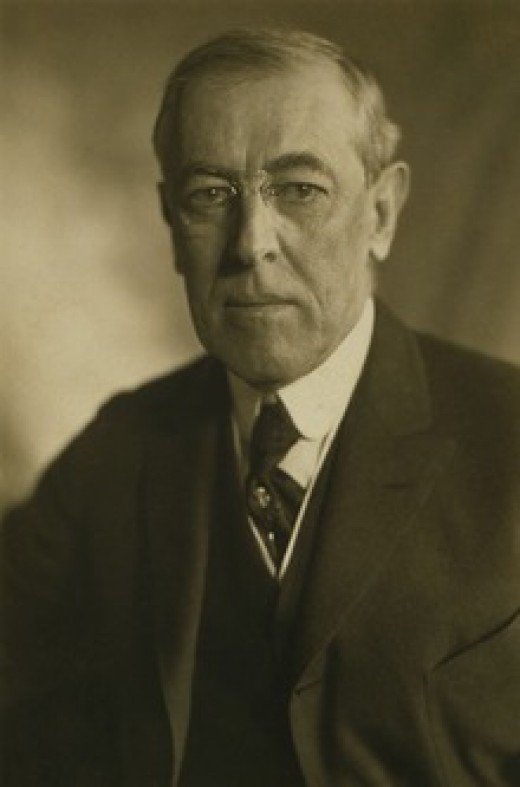 President Woodrow Wilson, 28th president of the United States, near the end of his second term, and incidentally, his life.