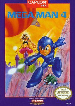 Box art for the US version of Mega Man 4 / Rock Man 4