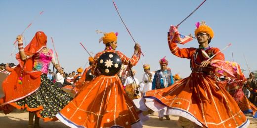 performers at Desert Festival Jaisalmer