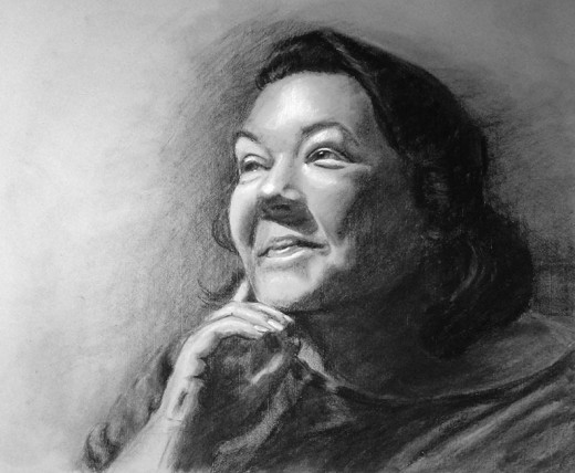 My self-portrait in charcoal.