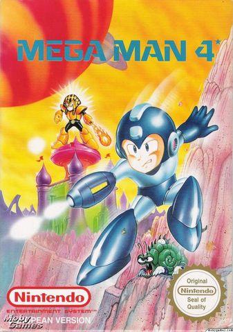 Box art for the PAL Region version of Mega Man 4 / Rock Man 4
