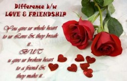 The Difference Between Love & Friendship