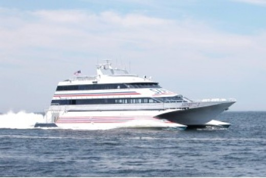 This was a big catamaran