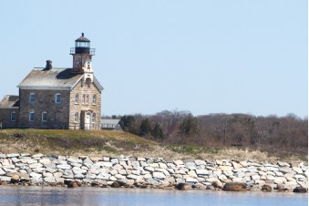 The 1869 historic granite lighthouse was decommissioned in 1978 in favor of an automated light that now sits a short distance away.
