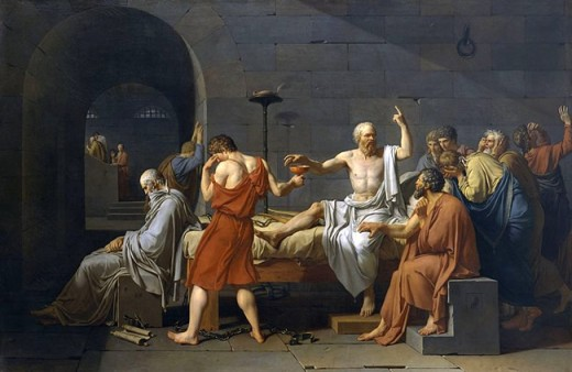 Socrates about to drink the Hemlock Poison