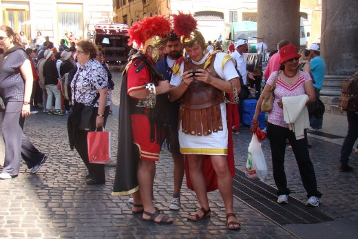 Modern Roman Soldiers near Pantheon