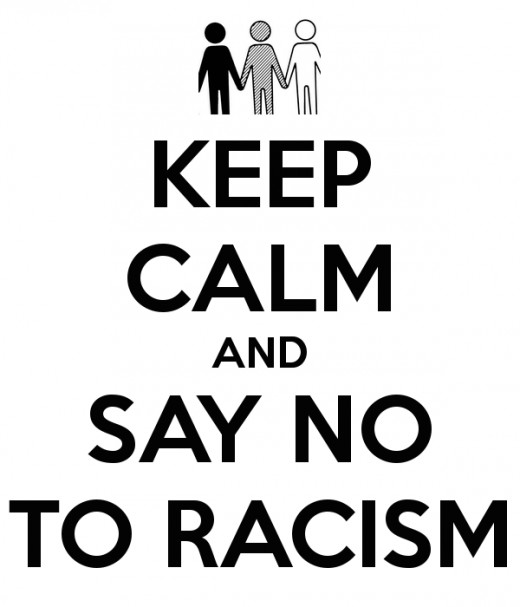 Say no to hate, say no to racism