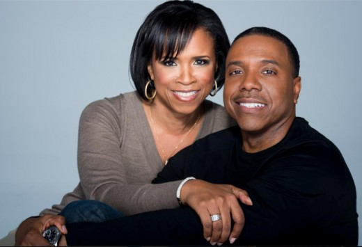 Taffi Dollar and her T.V. evangelist husband Creflo Dollar.  Congregations want their pastors to look good and dress sharp.  Creflo Dollar is all that.