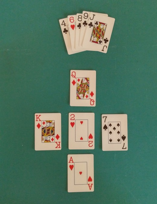 A Lo Hand With Ace, 2, 4, 6, 8.