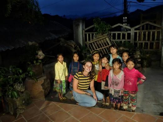 My class of Vietnamese Children in Sapa Village, Northern Vietnam