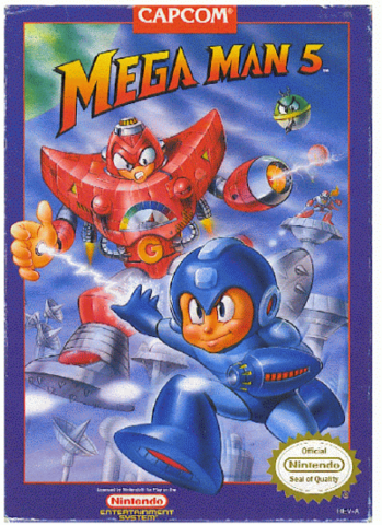 Box art for the US version of Mega Man 5 / Rock Man 5