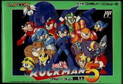 Box art for the Japanese version of Mega Man 5 / Rock Man 5