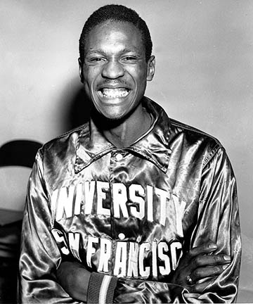 Bill Russell was the 2nd pick of the draft and went to St. Louis, but was later traded to Boston. He and Jimmy Chitwood were part of the US Olympic basketball team that won the gold medal in Australia.
