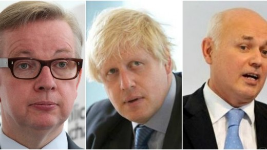 Gove, Johnson and Duncan Smith, certain to gain power if the UK vote to Leave the EU.