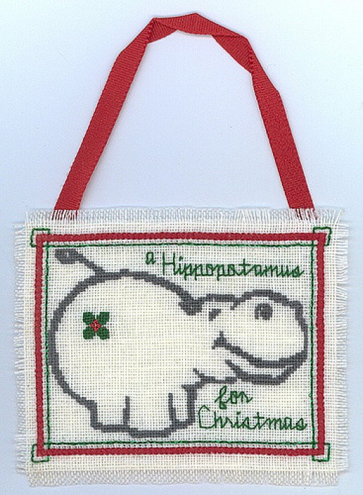 Adorable stitched ornament