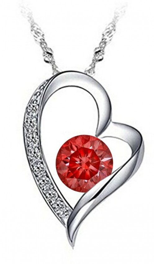 This heart-shaped pendant with a red stone is a great Valentine's Day gift especially for those who love necklaces, hearts & the color red. Best of all, it's not expensive at all. Of course, if you have the money, you can also decide to spend more.