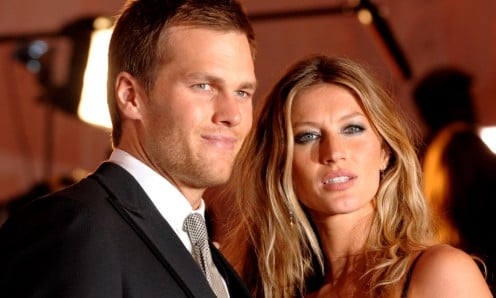 Tom with Gisele Bundchen, Brady's fashion model wife. A power couple? Yes.