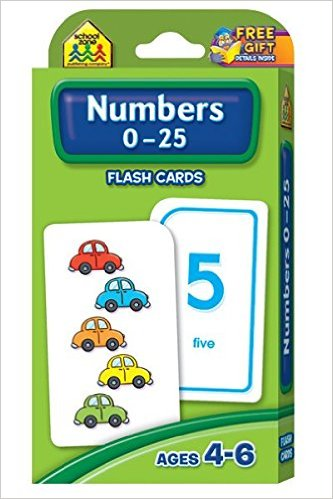 Numbers 0-25 Flash Cards Cards by School Zone Publishing Company Staff