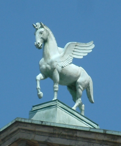 Pegasus (the Horse of Muses) on roof of Poznań Opera House