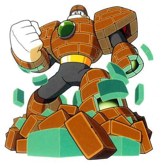 Stone Man has the power to reassemble himself if ever his body comes apart.