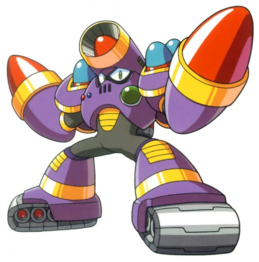 Napalm Man is literally a walking armory.