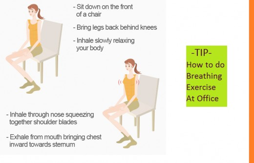 Tips on how to do breathing exercise at office
