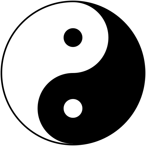 Yin and Yang symbol recognizes that the world consists of complementary but polar opposites.