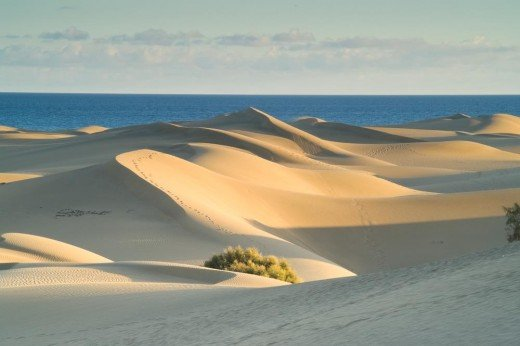 The famous Dunes, Maspalomas end of the island