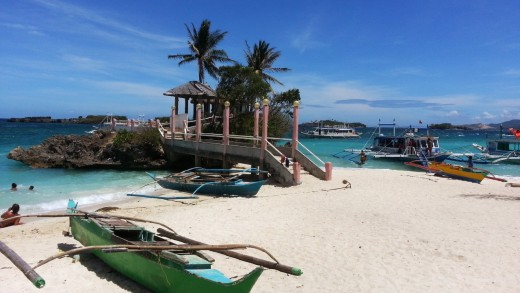 Tambisaan Beach, the backbeach of Boracay where the sun rises