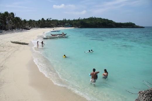 Tambisaan Beach the backside of Boracay Island